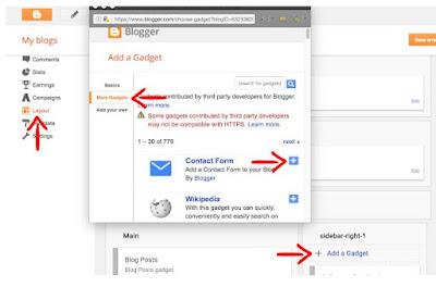 ialah halaman statis berisi formulir kontak admin blog Cara Membuat Halaman Kontak di Blogger - Formulir Kontak Admin Blog