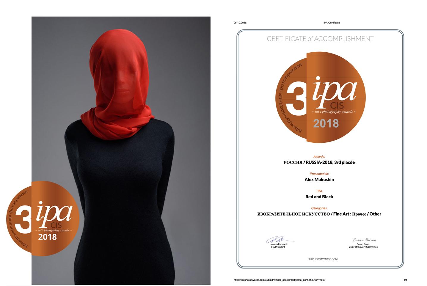 3-е место в конкурсе IPA