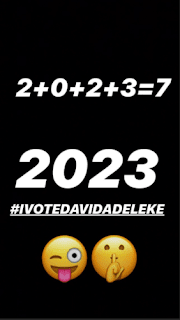 Davido Set To Vie For Political Post In 2023 General Elections In Nigeria, Kickstarts Hashtag