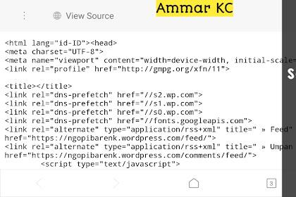 Cara Melihat Source Code Website Di Android Dengan Mudah