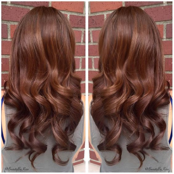 Warm Chestnut Brown Hair Color For Beautiful Bride