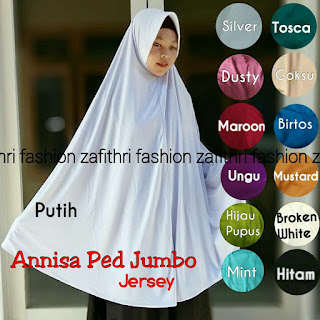 jilbab syar'i super jumbo bahan jersey polos