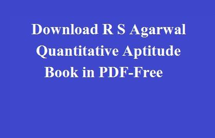 download rs agarwal quantitative aptitude pdf free