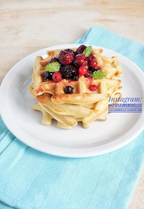 Gaufres belges recette facile aux fruits rouhes