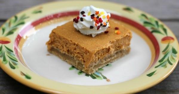 Pumpkin Cheesecake Bars Made With Pound Cake Mix