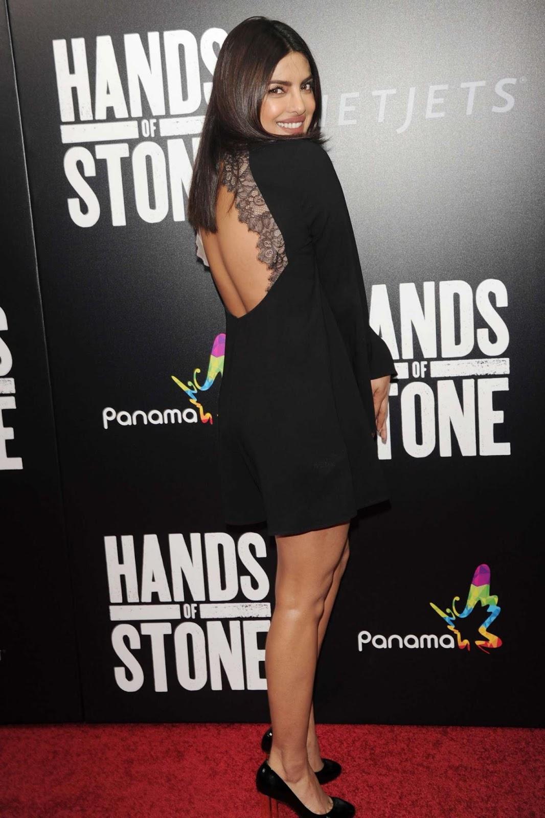 Priyanka Chopra Looks Stunning In A Black Dress