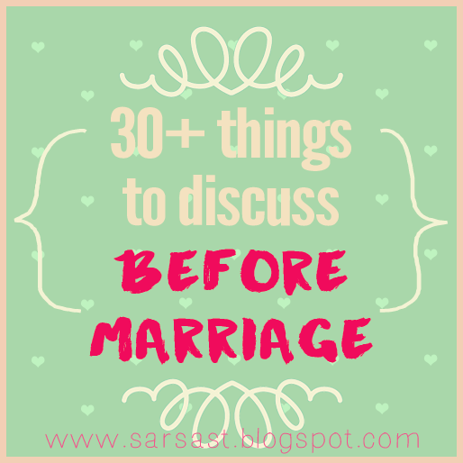 things to discuss before getting married - hal yang perlu didiskusikan sebelum menikah