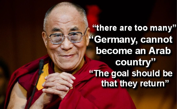 dalai lama says there  are too many refugees in europe