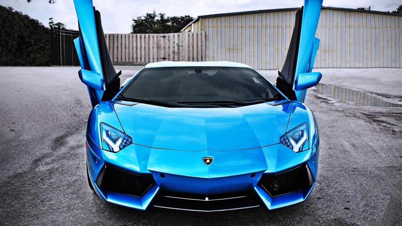 Lamborghini Blue Wallpaper No 1 Wallpaper Hd