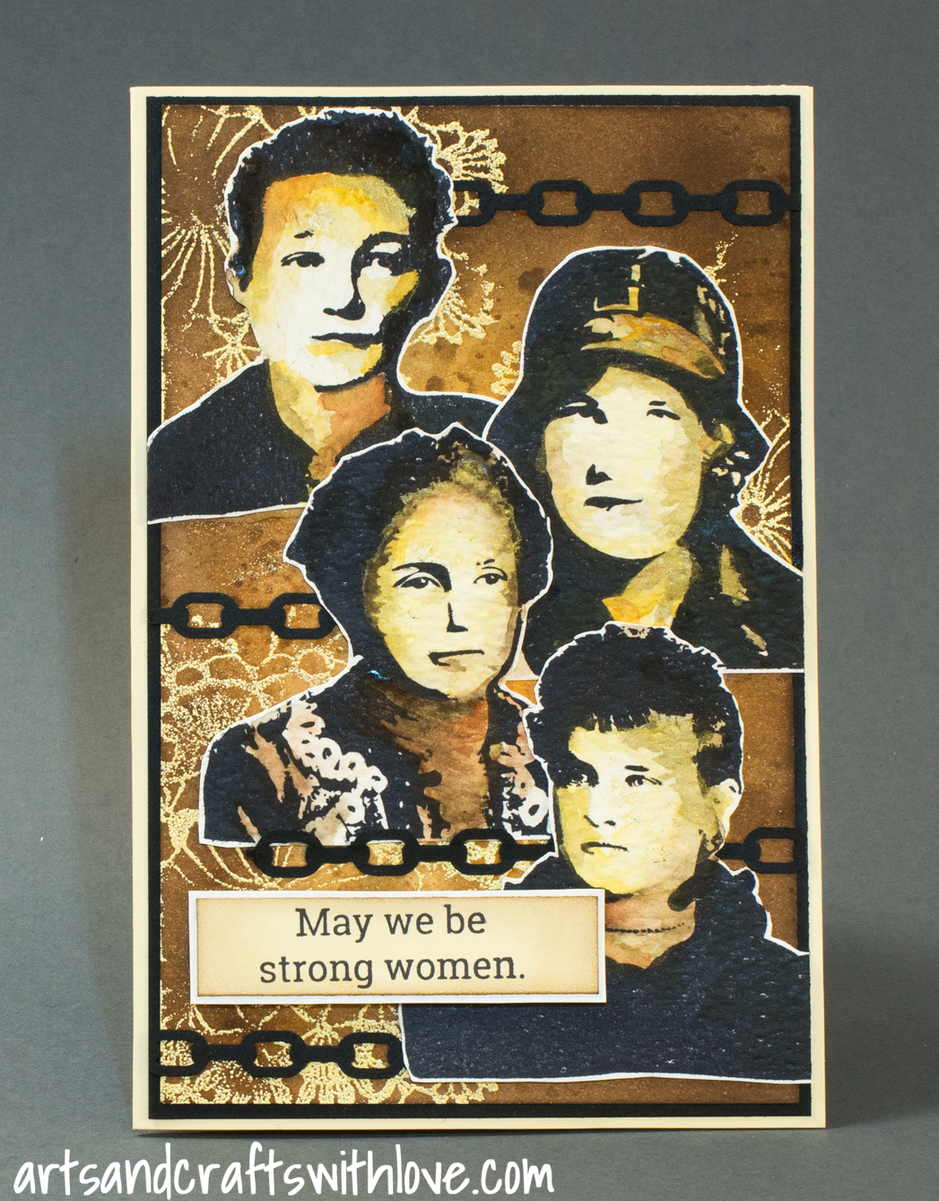 Cardmaking: Card for Craft Stamper March Take It, Make It challenge: May we be strong women