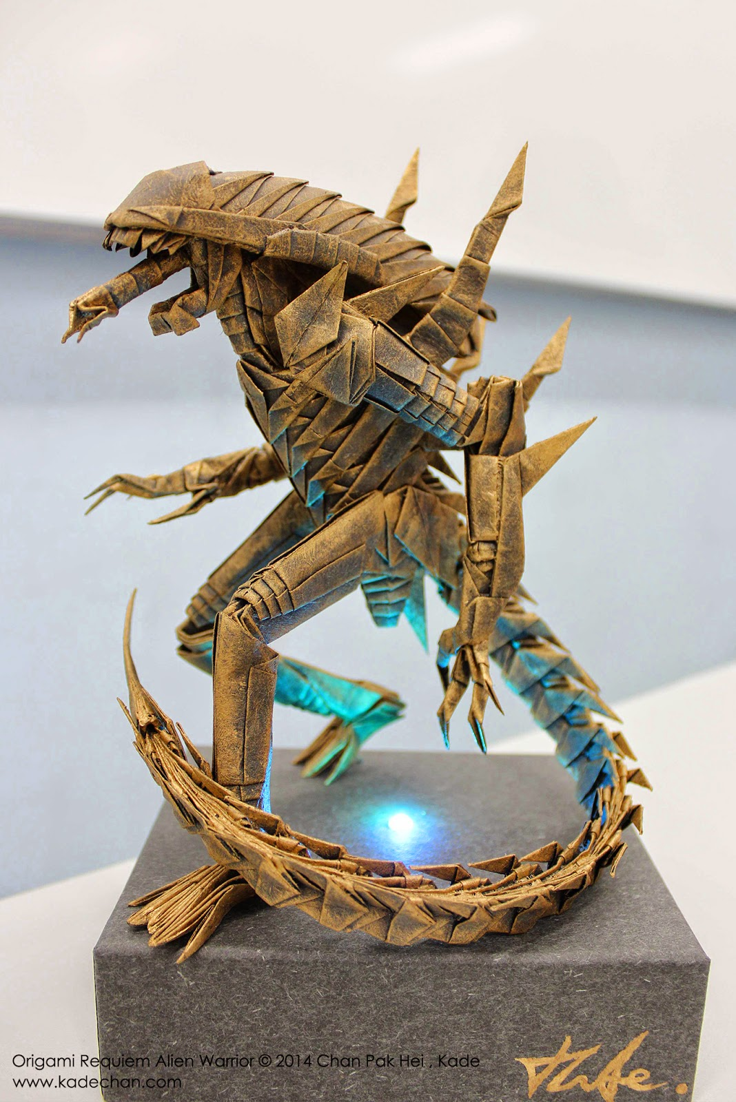Kade Chan Origami Blog 香港摺紙工作室 日誌 Origami Requiem Alien