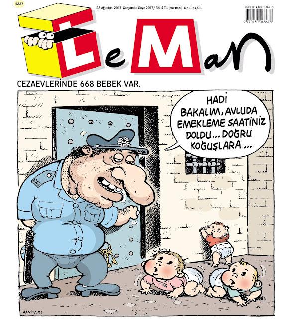 cezaevi bebek karikatür