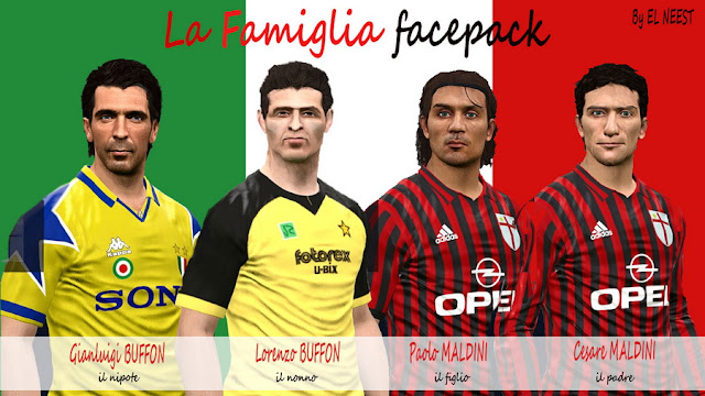 PES 2017 La Famiglia FacePack by EL NEEST