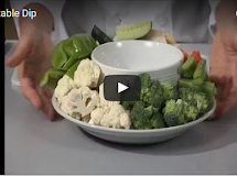 How To Make Vegetables and Creamy Dip Recipe