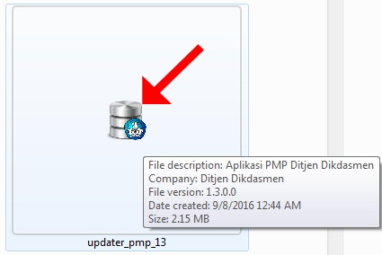 Klik Ganda pada File Patch PMP Versi 1.3 Hasil Download