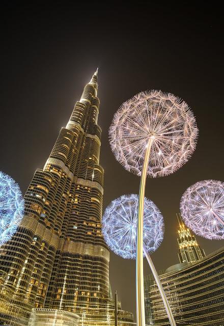 dubai burj khalifa and dubai mall