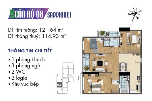 căn hộ 08 sapphire 1
