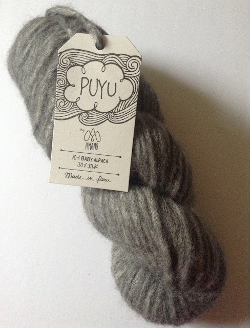 Amano Puyu alpaca silk yarn for knitting and crochet