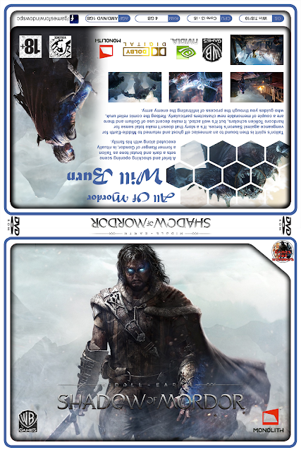 Capa Middle-earth Shadow of Mordor PC