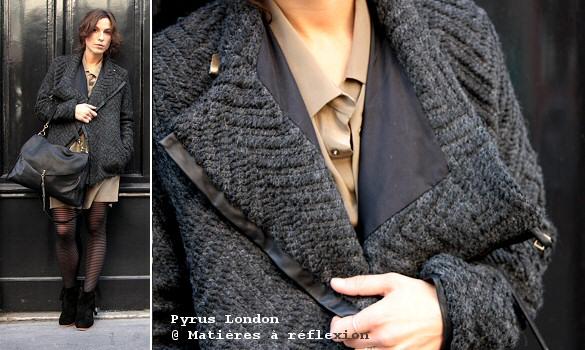 veste pyrus london ou perfecto en laine mati res r flexion paris. Black Bedroom Furniture Sets. Home Design Ideas