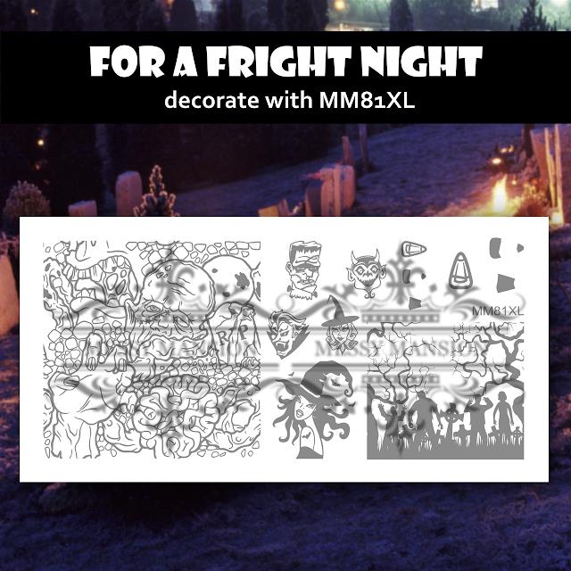 Lacquer Lockdown - Halloween, halloween nail art, halloween nail art stamping plates, nail art, nail art stamping ideas, holiday nail art, stamping plates, Messy Mansion, zombies, frankenstien, candy corn, murals, eyeballs, zombie teeth, skulls, brains, gore