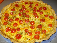 Tarta de tomates cherry y mozzarella