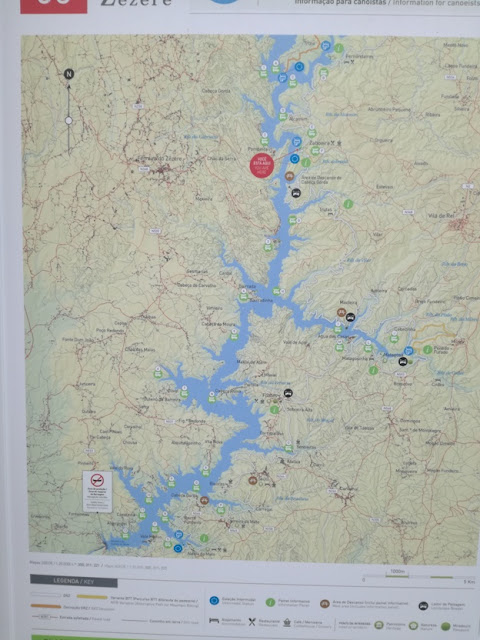 Mapa da Albufeira de Castelo de Bode