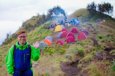 Plawangan Sembalun Crater altitude 2639m of Munt Rinjani