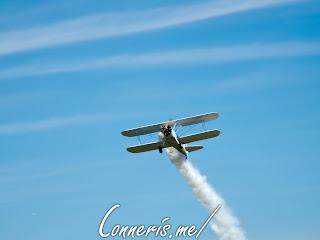 N3256A 1943 BOEING A75N1%2528PT17%2529 Smoke Flyby 2