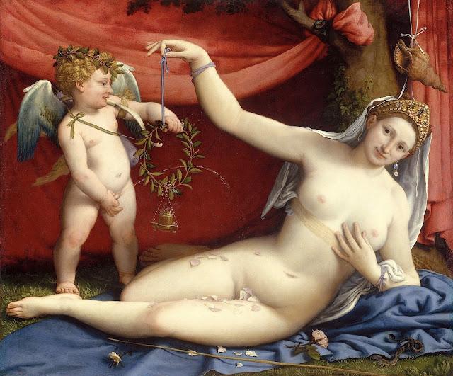 Lorenzo Lotto: Cupido e Venere