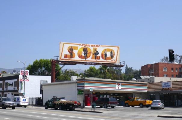 Solo movie billboard