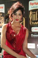 Videesha in Spicy Floor Length Red Sleeveless Gown at IIFA Utsavam Awards 2017  Day 2  Exclusive 32.JPG