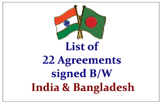 List of 22 Agreements that signed between India and Bangladesh