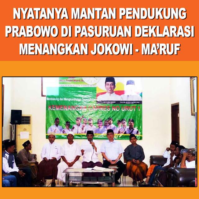 Mantan Pendukung Prabowo di Pasuruan Deklarasi Menangkan Jokowi