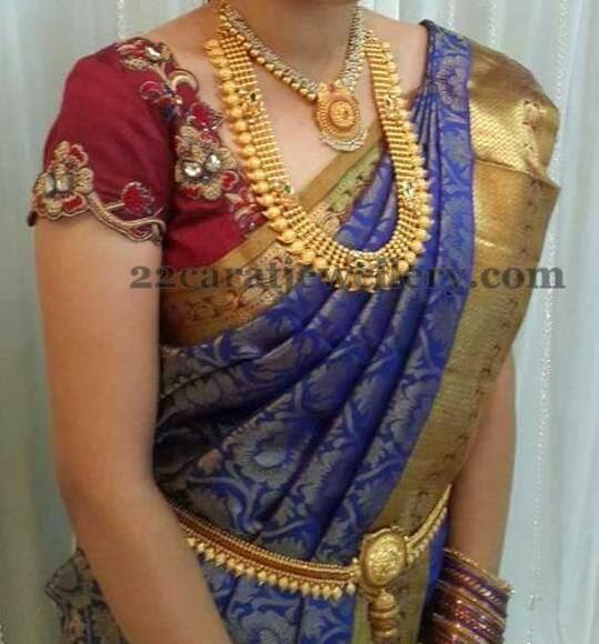 Bride In Mango Haram Pearls Set Jewellery Designs