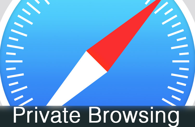 Enable Safari Private browsing