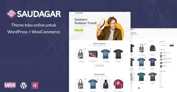 Saudagar Modern Woocommerce Online Store Wordpress Themes