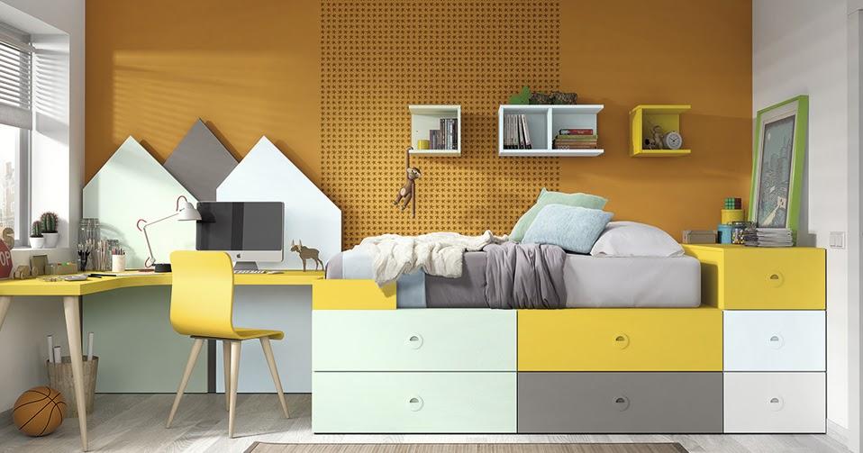 Juvenil cama modular 1370 for Cama modular infantil