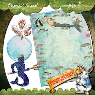 Mermaid Journal freebie - there be mermen here!