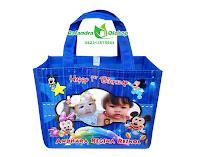tas ultah murah, tas ulang tahun anak, tas souvenir ultah, souvenir ultah murah, tas ultah minnie mouse.