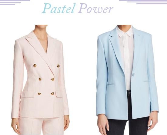 Pastel Blazer, Ralph Lauren Blush Blazer, Blush Blazer With Gold Buttons