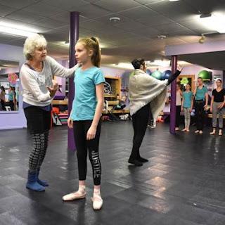 Roseanne Reed of Northwoods Dance Studio with Greatmats marley dance flooring and subfloor