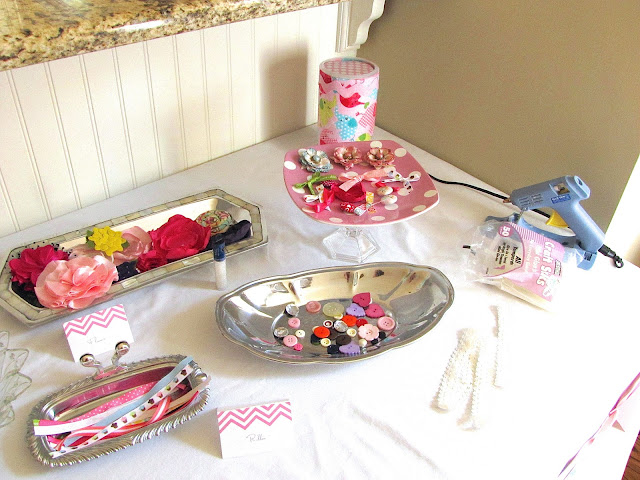 pink and aqua baby shower