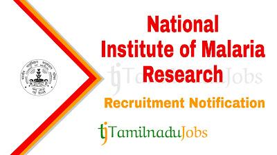 NIMR Recruitment notification 2019, Govt jobs for 10th pass, govt jobs for B.Sc