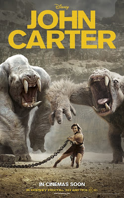 Disney's John Carter 2012 film movie poster Malaysia