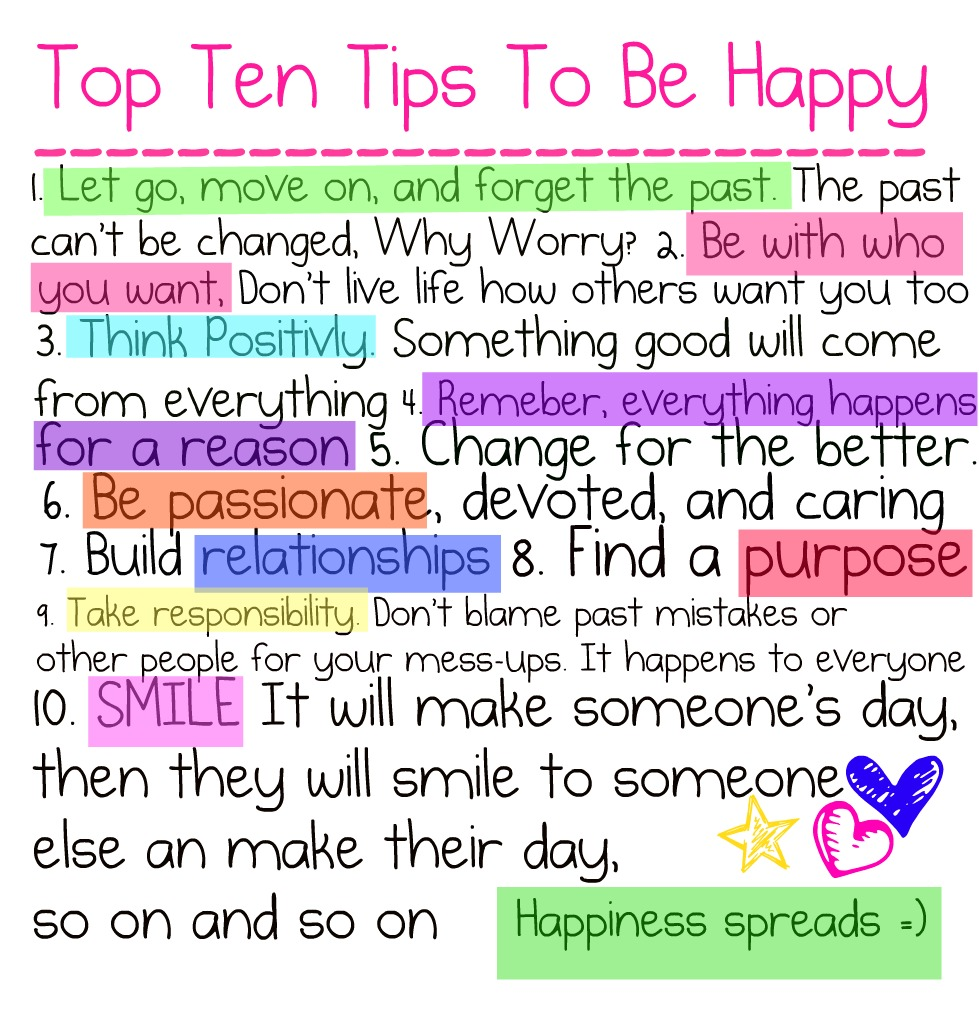 Girls Advice Quote: ☆Quotes From A Crazy Girl☆: Ten Tips To Be Happy