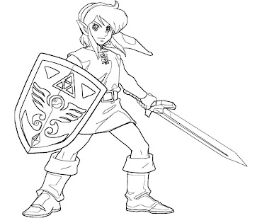 #4 Link Coloring Page