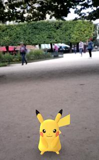 Pikatchu - Square Jean XXIII - Notre-Dame de Paris - Pokemon Go