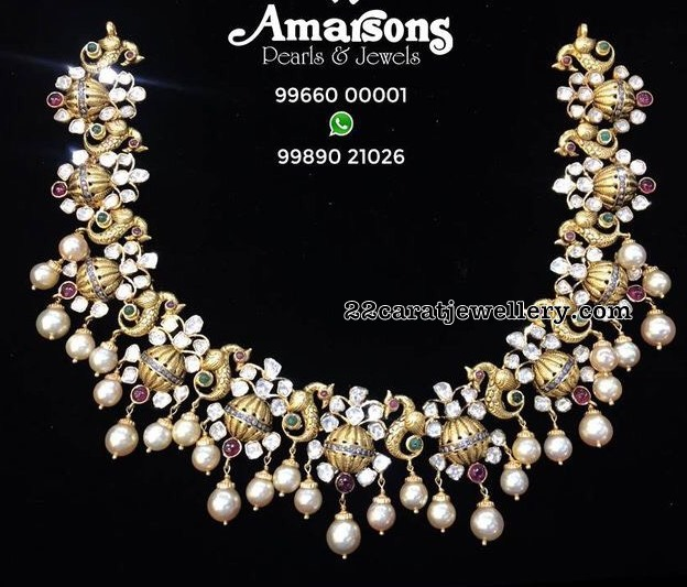 Royal Look Latest Pachi Diamond Sets
