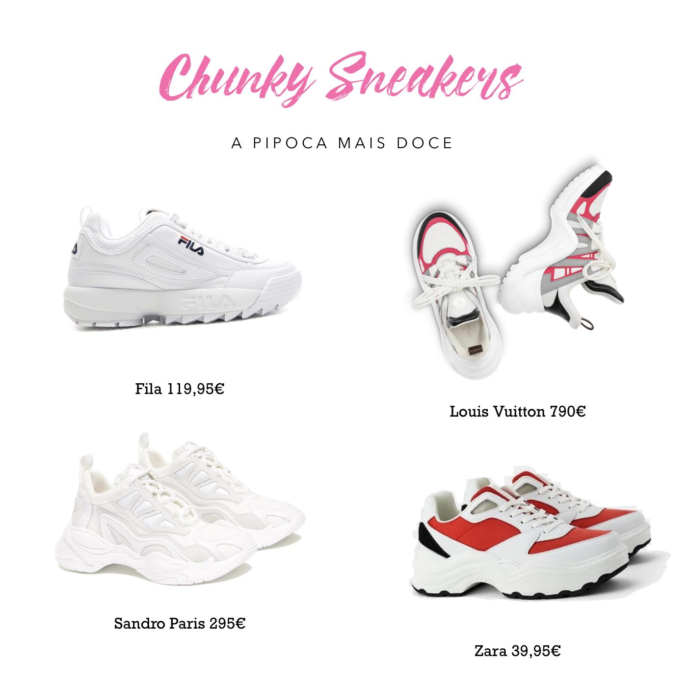 A Pipoca Mais Doce: Diz que está na moda #73: chunky sneakers